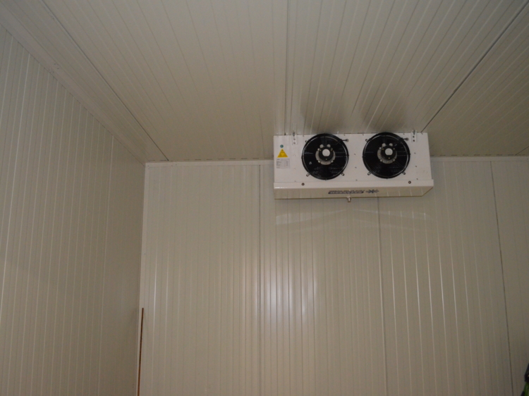 Kühlhaus bzw. Kühlzelle von innen